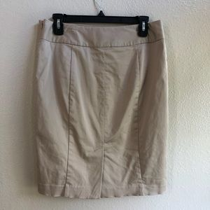 The limited tan pencil skirt size 6